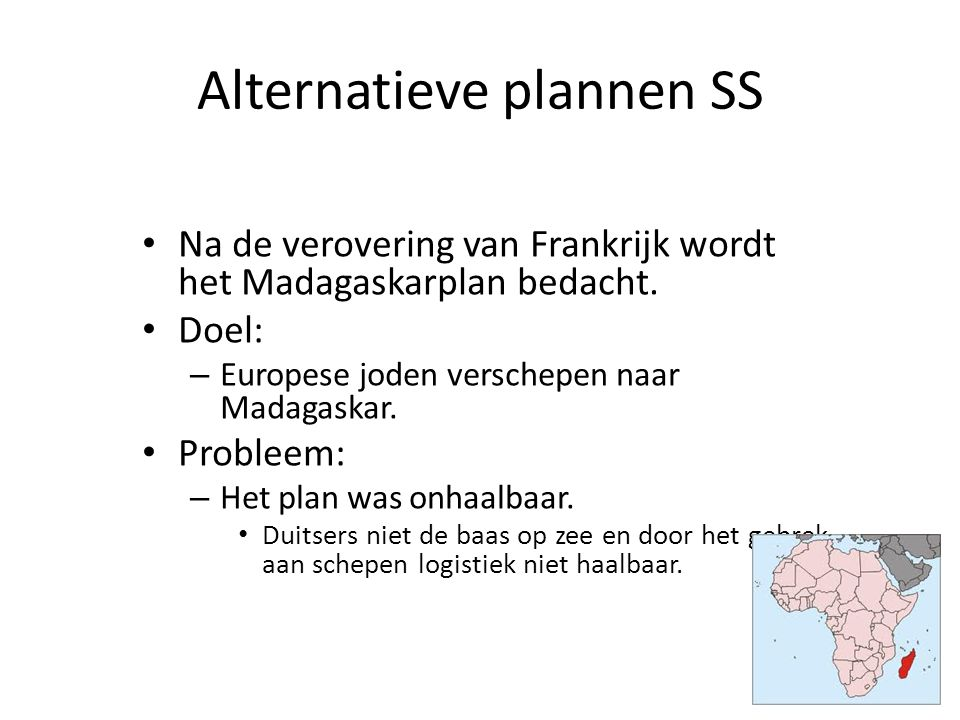Alternatieve plannen SS