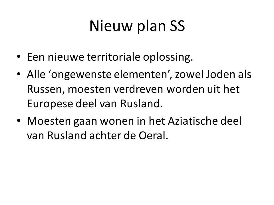 Nieuw plan SS Een nieuwe territoriale oplossing.