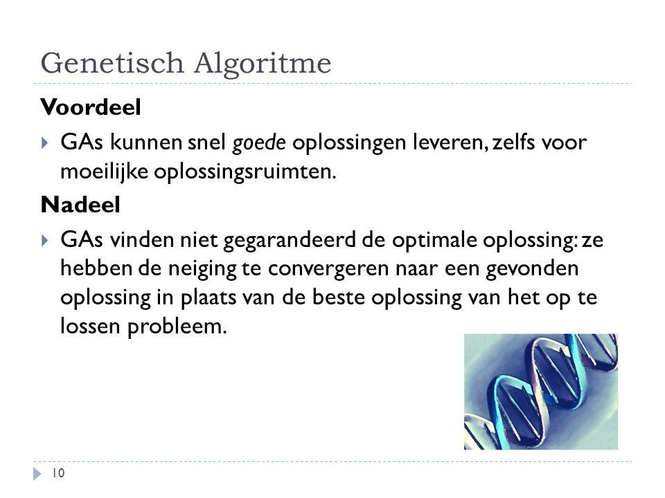 Genetisch Algoritme Voordeel