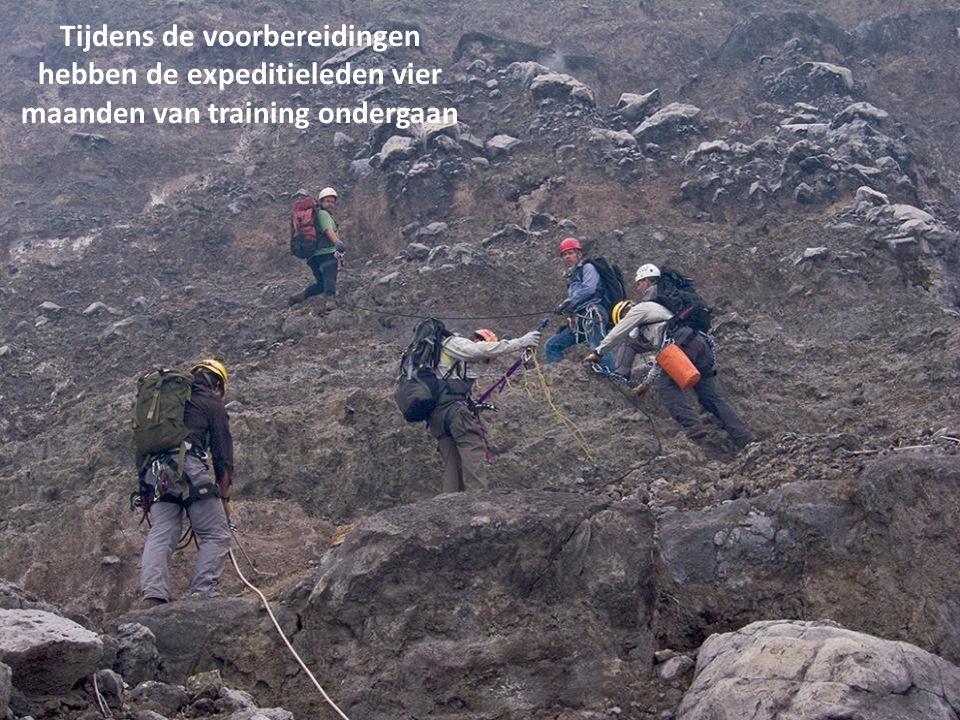 Tijdens de voorbereidingen hebben de expeditieleden vier maanden van training ondergaan