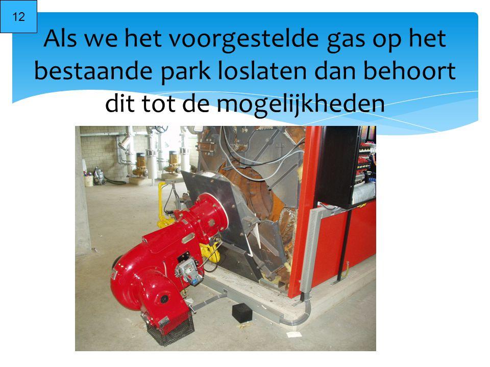 12 Als we het voorgestelde gas op het bestaande park loslaten dan behoort dit tot de mogelijkheden