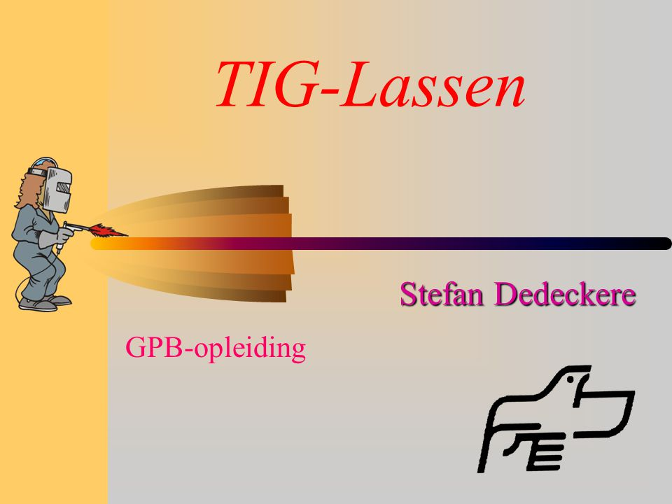 TIG-Lassen Stefan Dedeckere GPB-opleiding