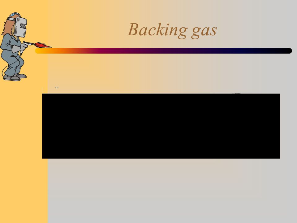 Backing gas