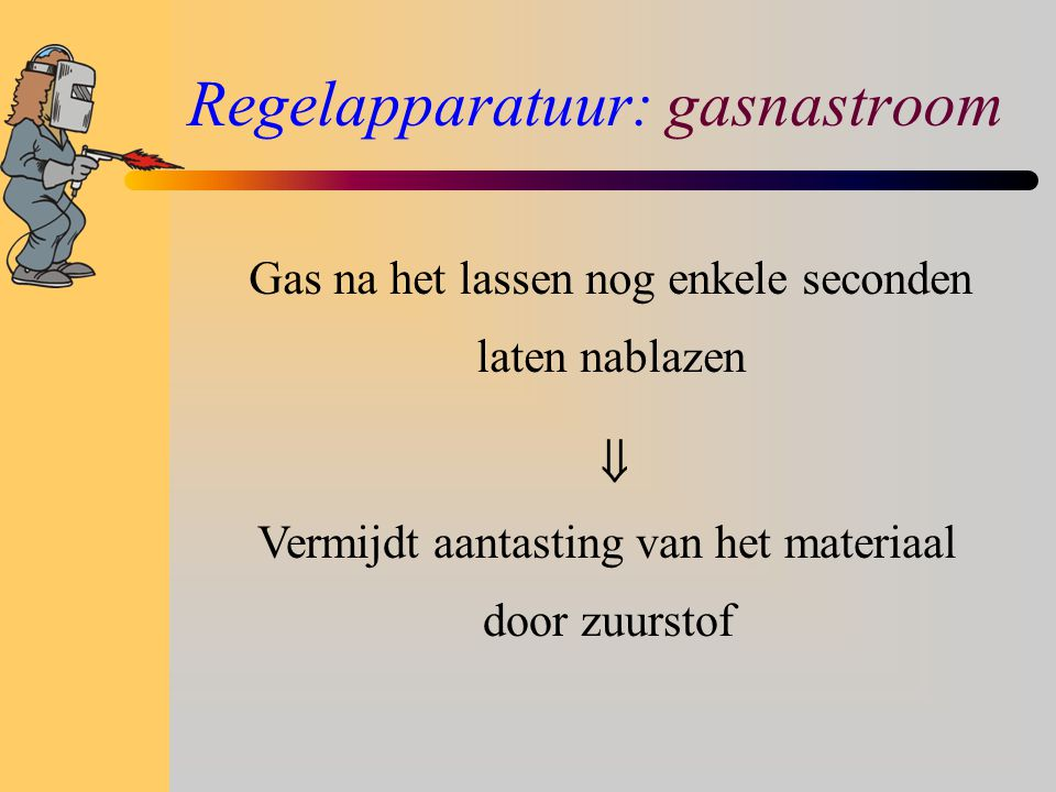 Regelapparatuur: gasnastroom
