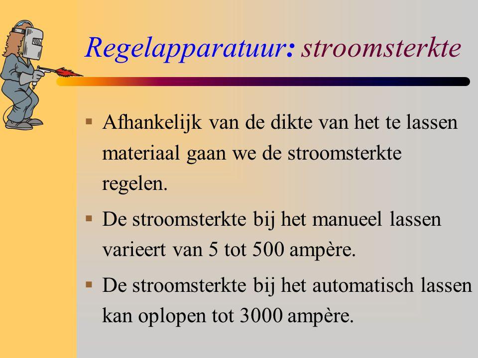 Regelapparatuur: stroomsterkte
