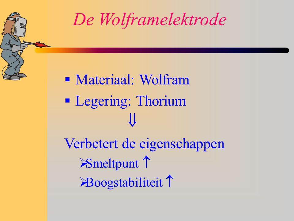 De Wolframelektrode Materiaal: Wolfram Legering: Thorium 