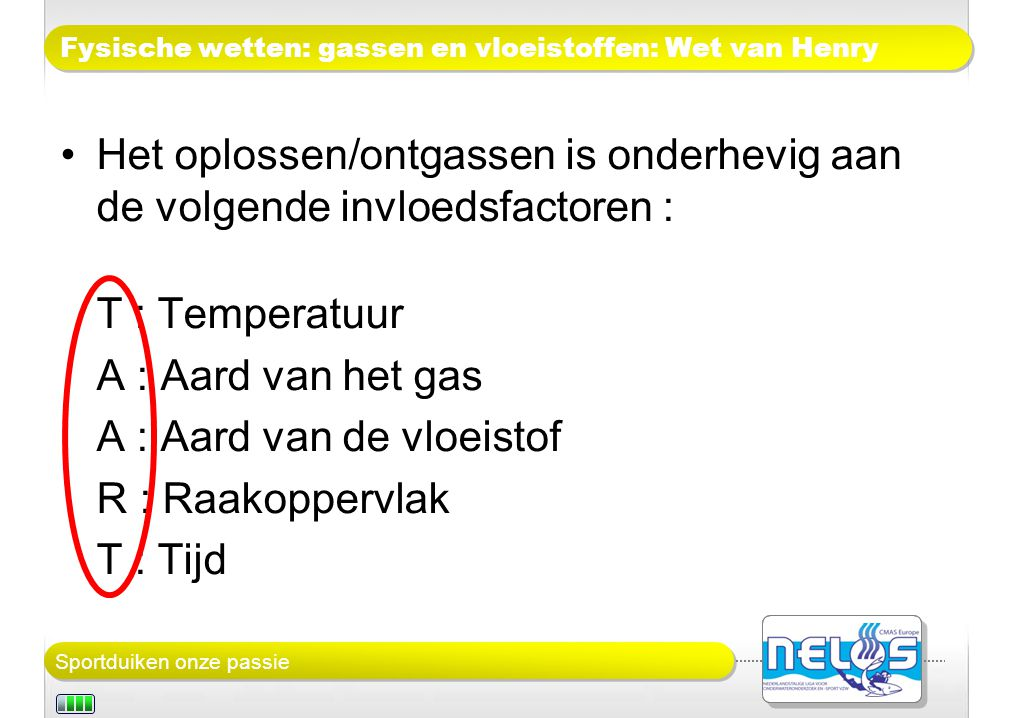 Fysische wetten: gassen en vloeistoffen: Wet van Henry