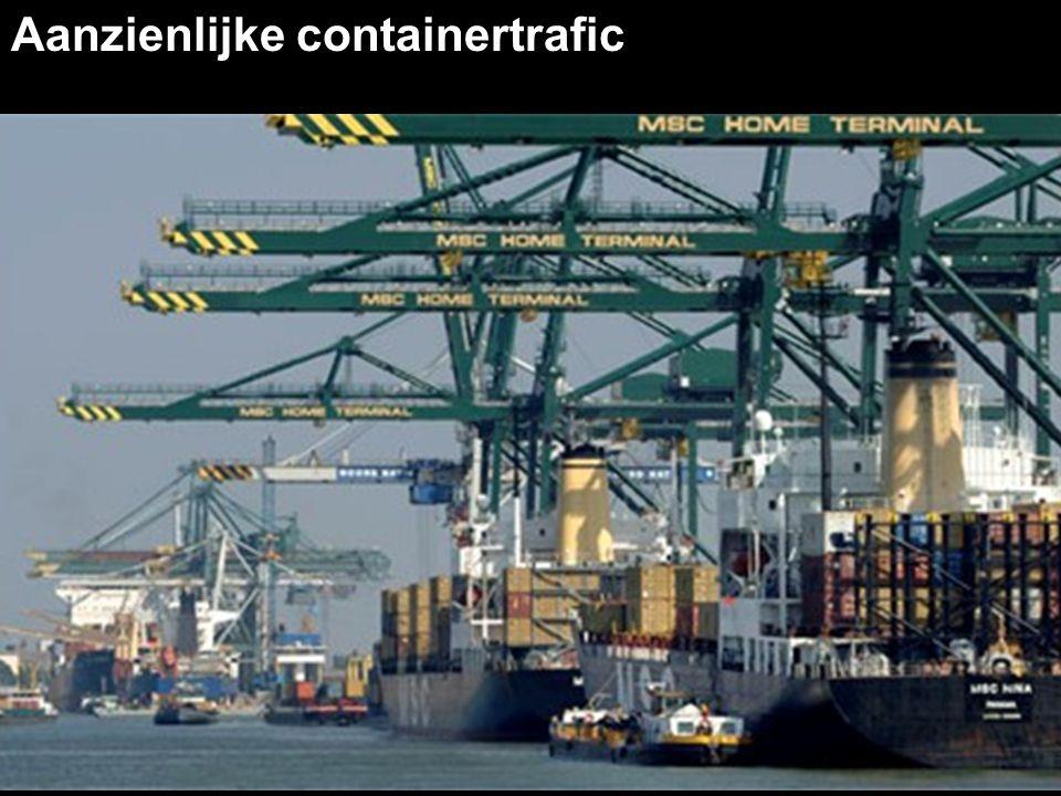 Aanzienlijke containertrafic