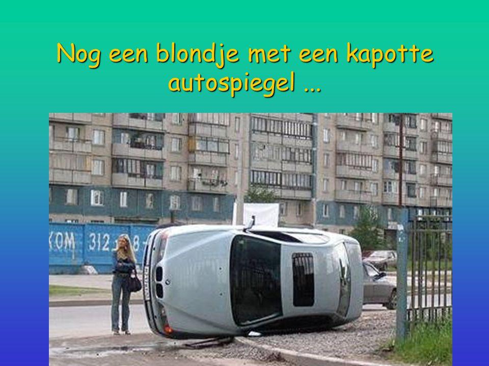 Nog een blondje met een kapotte autospiegel ...