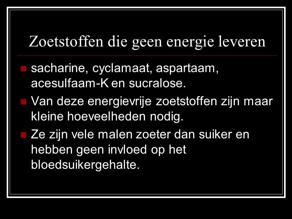 Zoetstoffen die geen energie leveren