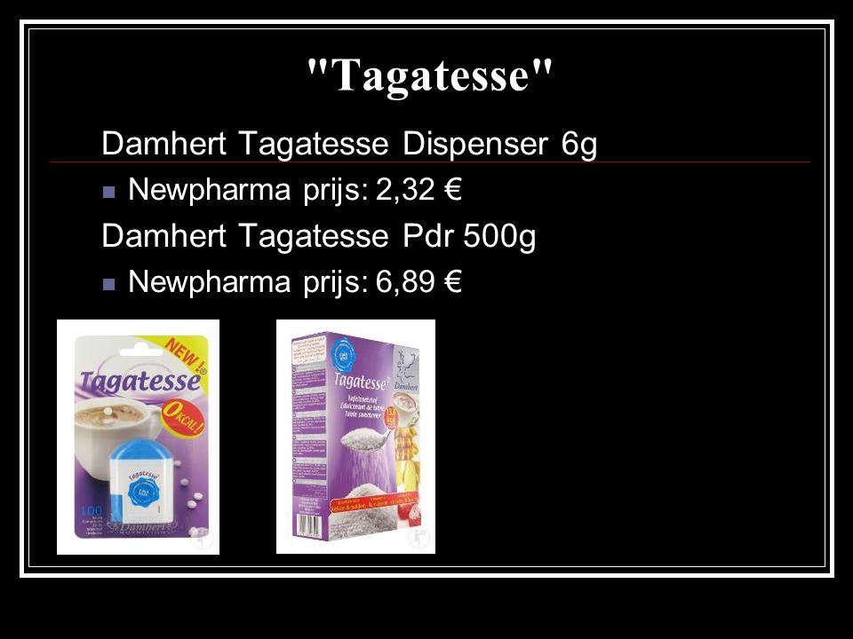 Tagatesse Damhert Tagatesse Dispenser 6g Damhert Tagatesse Pdr 500g