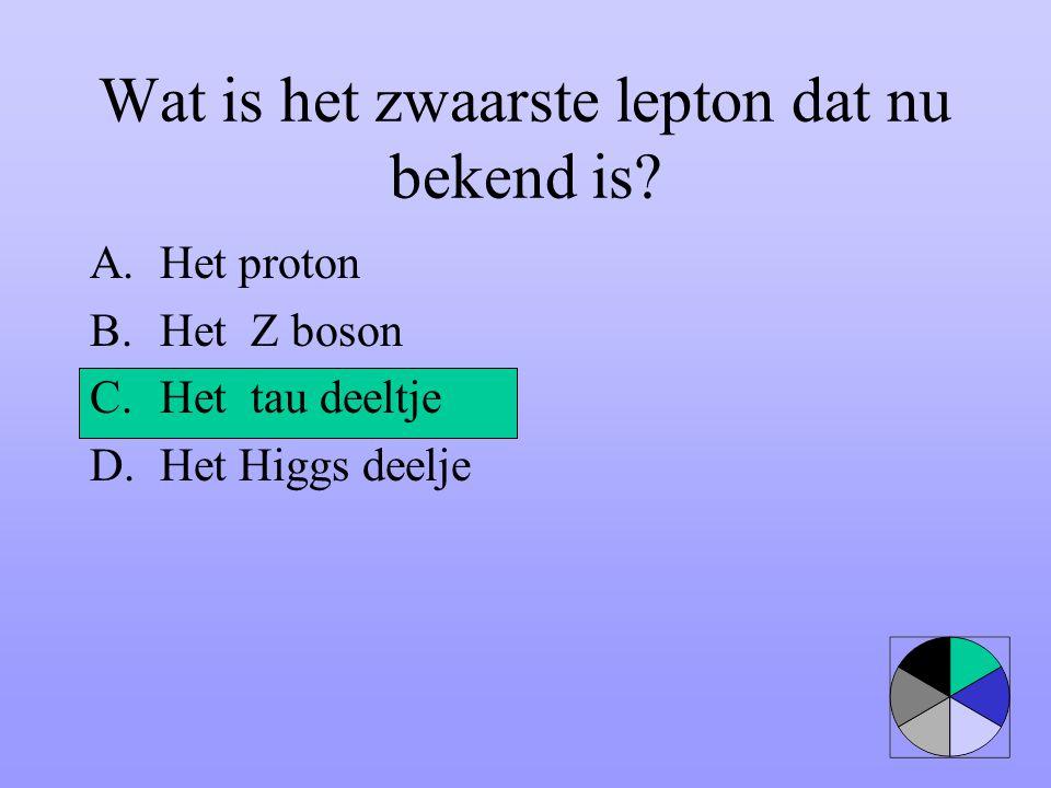 Wat is het zwaarste lepton dat nu bekend is