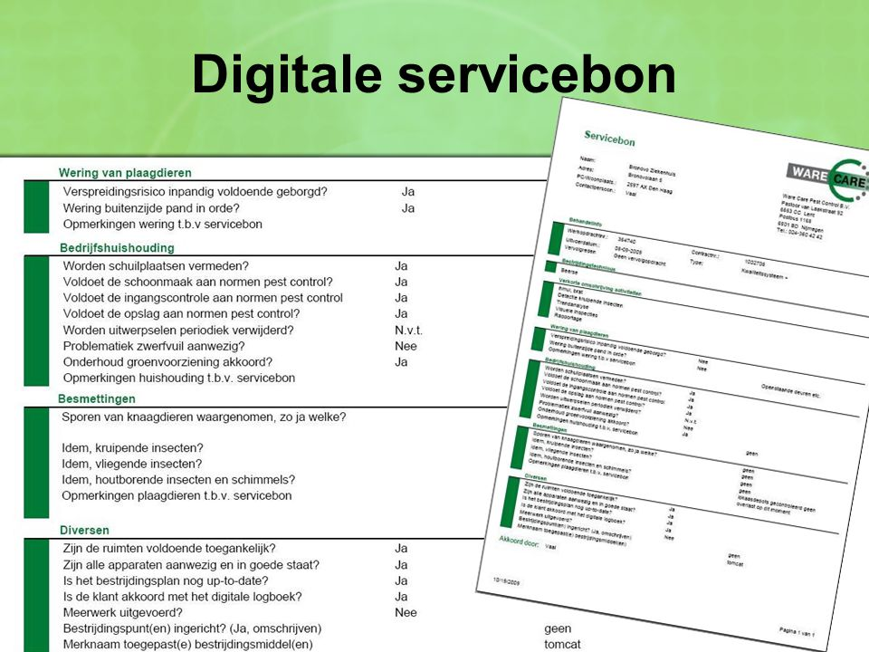 Digitale servicebon