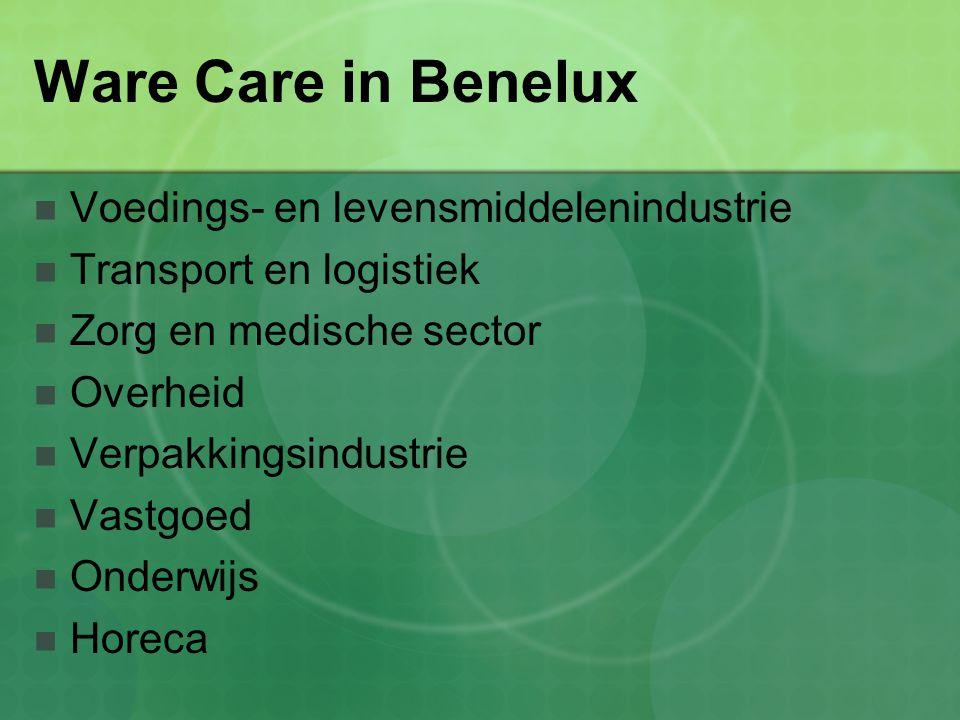 Ware Care in Benelux Voedings- en levensmiddelenindustrie