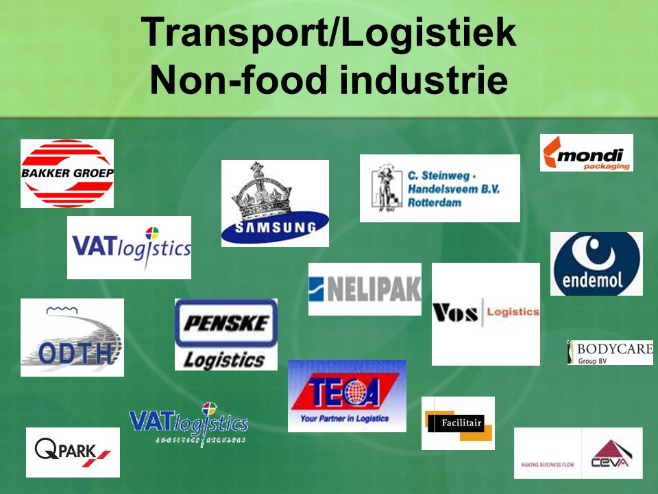 Transport/Logistiek Non-food industrie