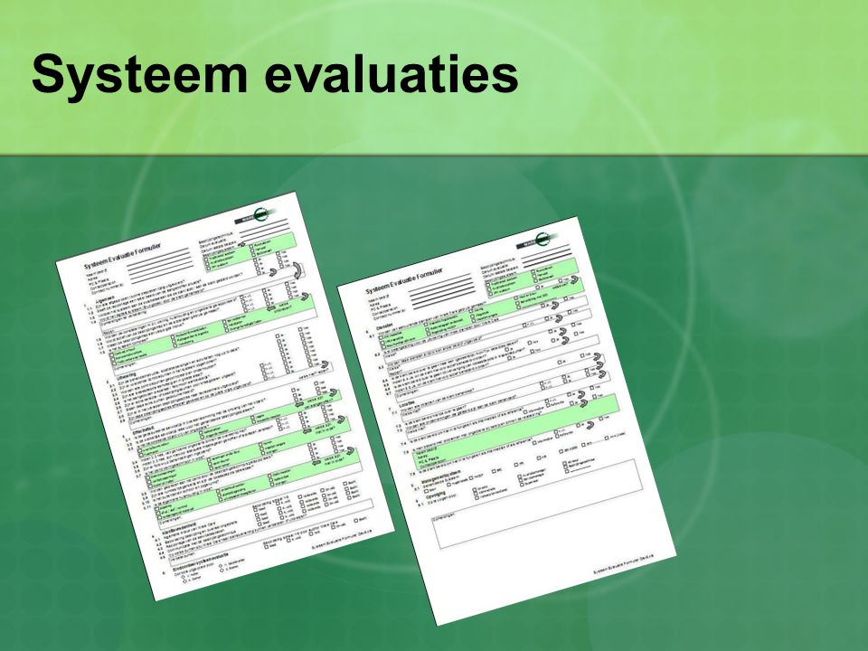 Systeem evaluaties