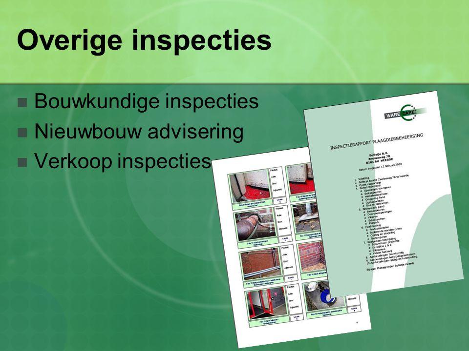 Overige inspecties Bouwkundige inspecties Nieuwbouw advisering
