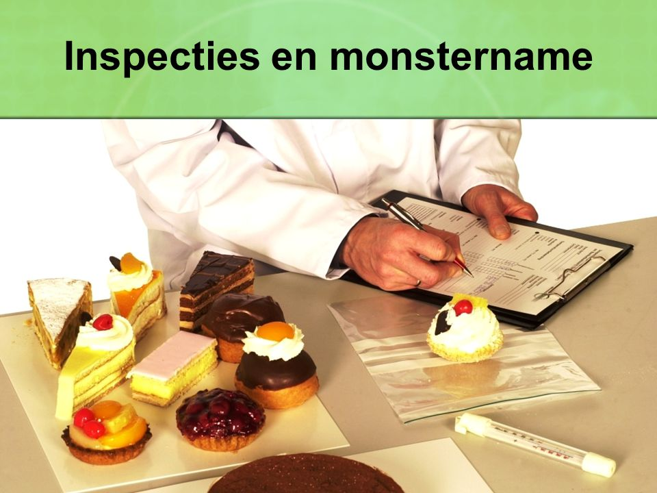 Inspecties en monstername