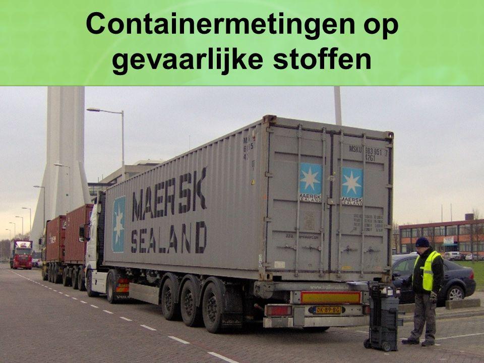 Containermetingen op gevaarlijke stoffen