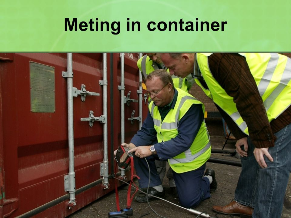Meting in container