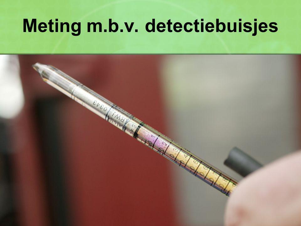 Meting m.b.v. detectiebuisjes