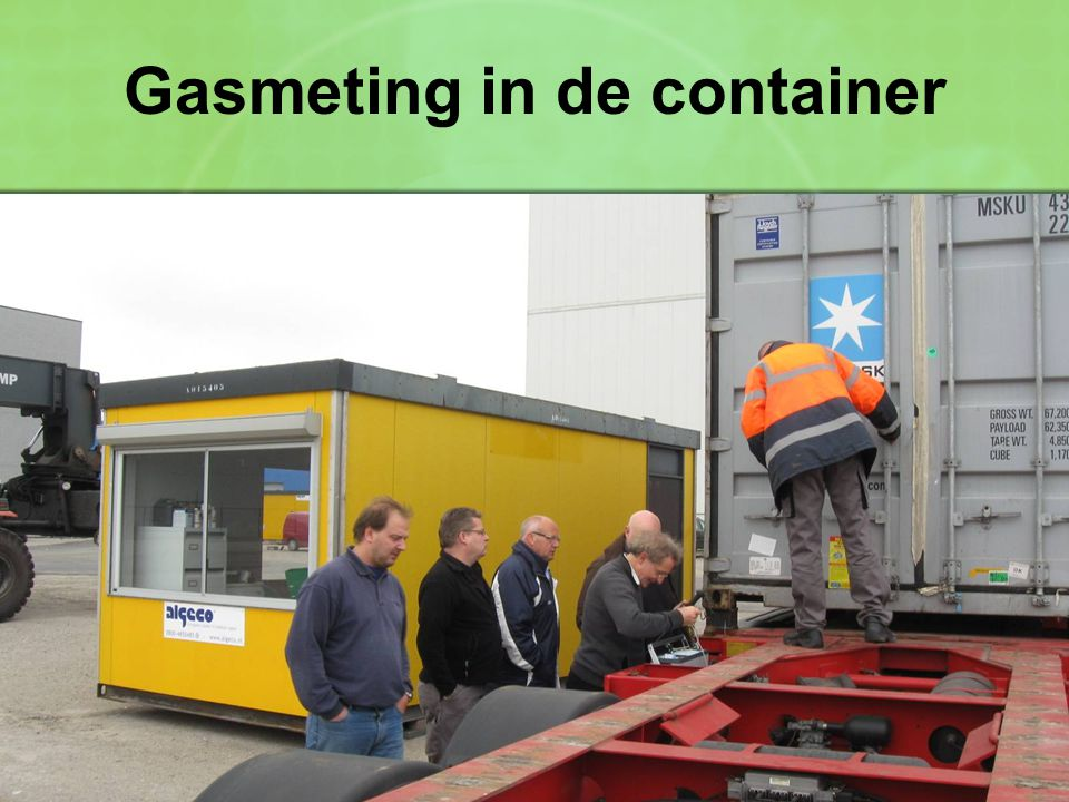 Gasmeting in de container