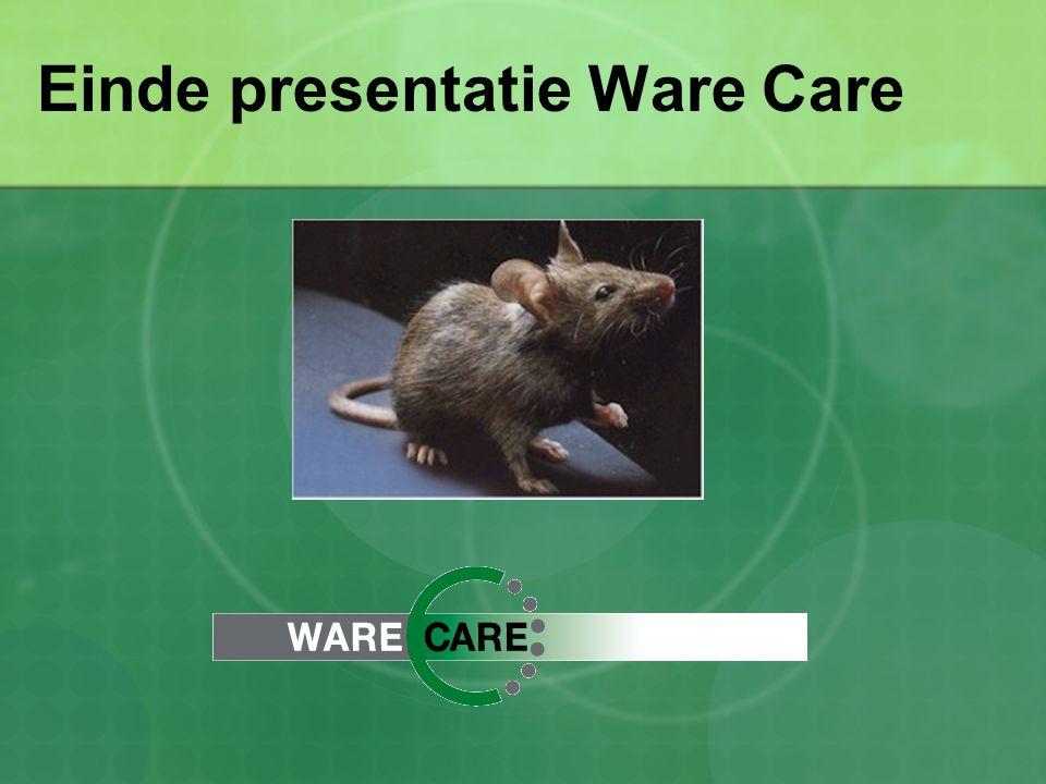 Einde presentatie Ware Care