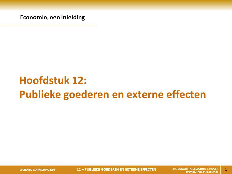 Hoofdstuk 12: Publieke goederen en externe effecten