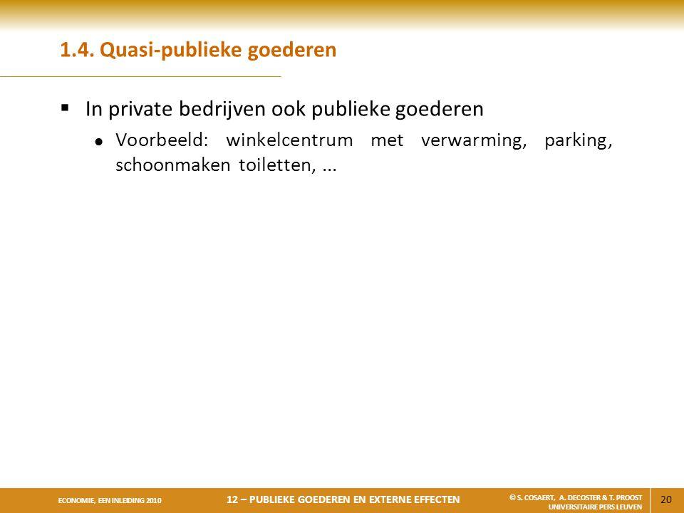 1.4. Quasi-publieke goederen