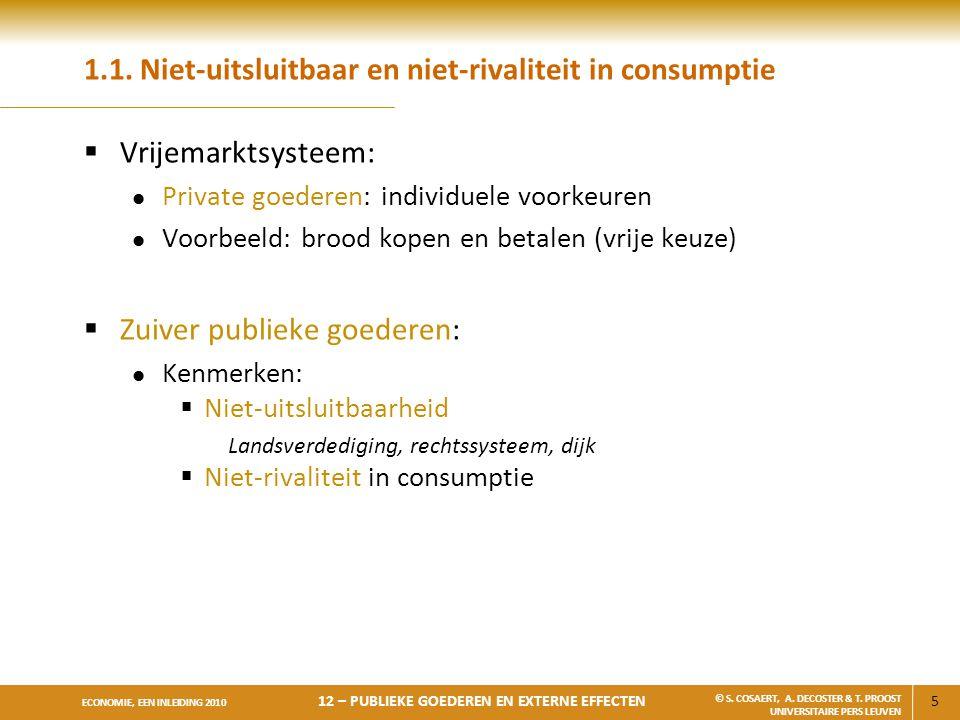 1.1. Niet-uitsluitbaar en niet-rivaliteit in consumptie