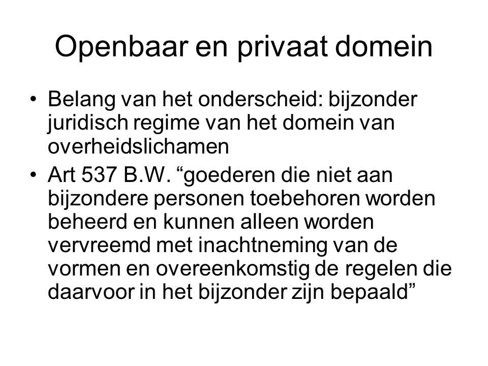 Openbaar en privaat domein