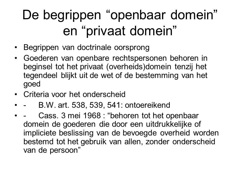 De begrippen openbaar domein en privaat domein
