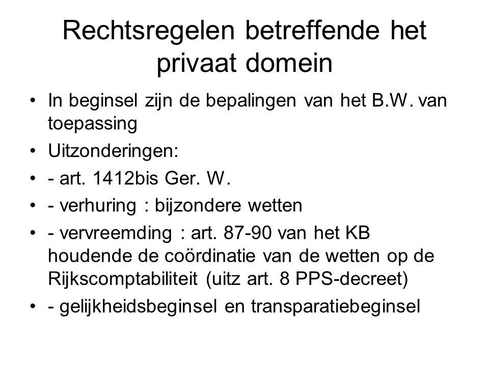 Rechtsregelen betreffende het privaat domein