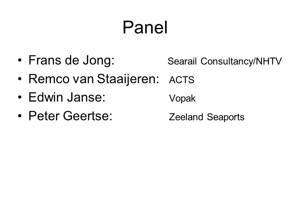 Panel Frans de Jong: Searail Consultancy/NHTV
