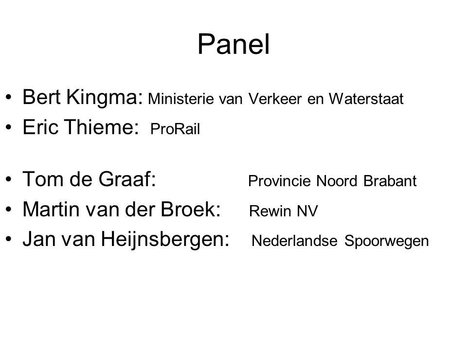 Panel Bert Kingma: Ministerie van Verkeer en Waterstaat
