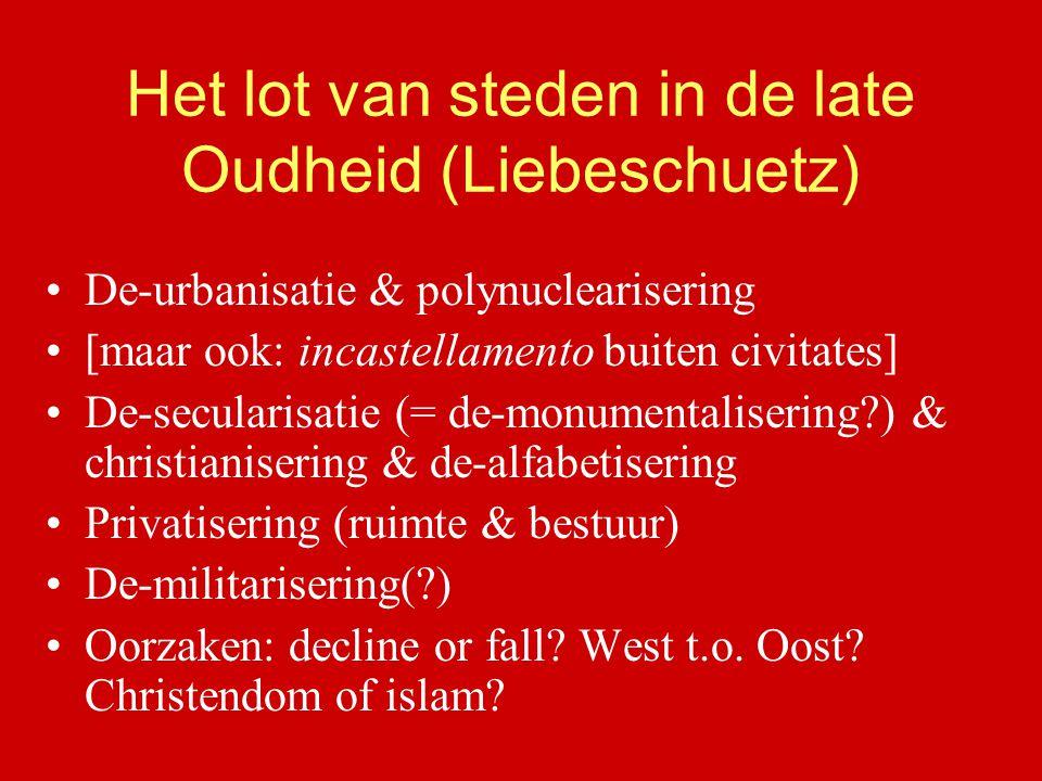 Het lot van steden in de late Oudheid (Liebeschuetz)