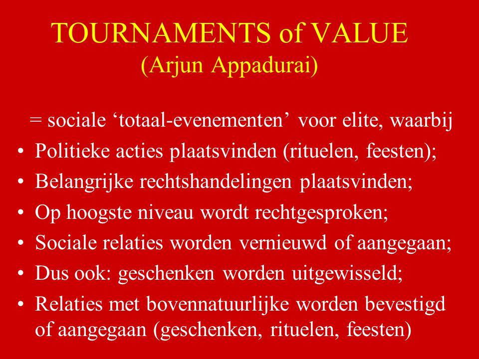 TOURNAMENTS of VALUE (Arjun Appadurai)