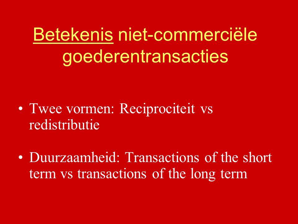 Betekenis niet-commerciële goederentransacties