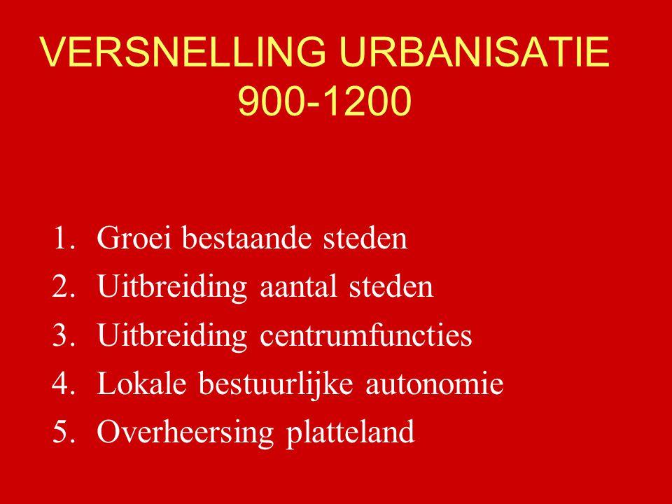 VERSNELLING URBANISATIE 900-1200