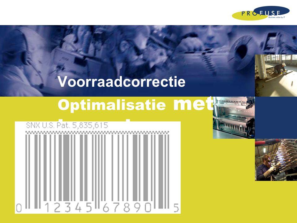 Voorraadcorrectie Optimalisatie met barcode