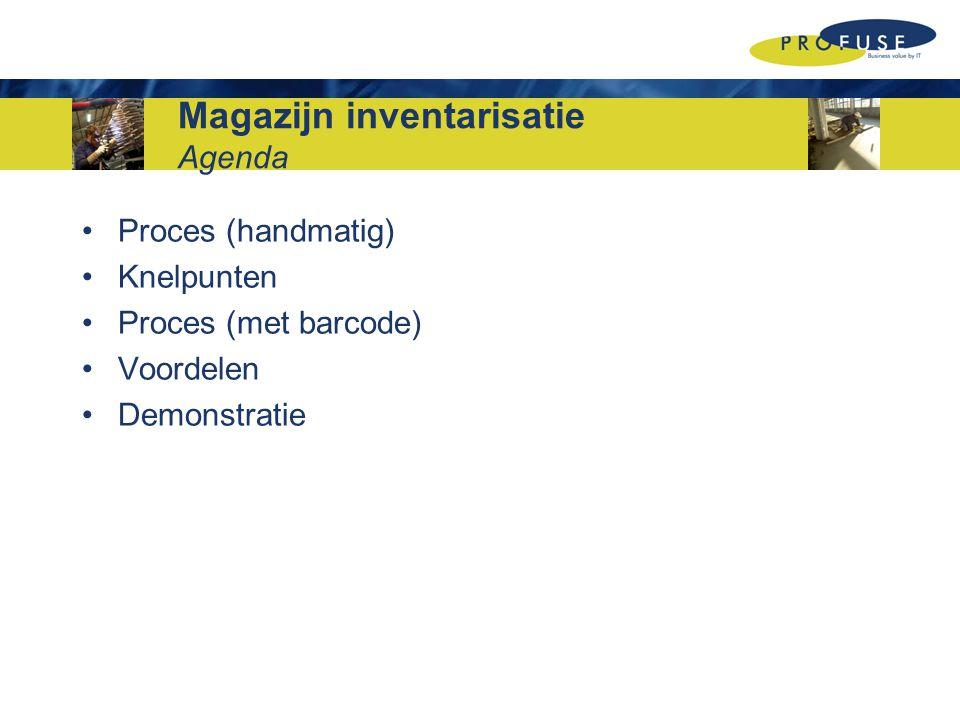 Magazijn inventarisatie Agenda