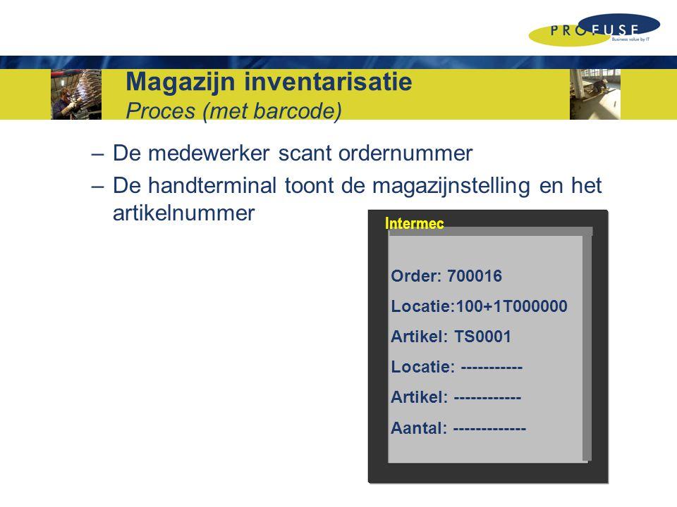 Magazijn inventarisatie Proces (met barcode)