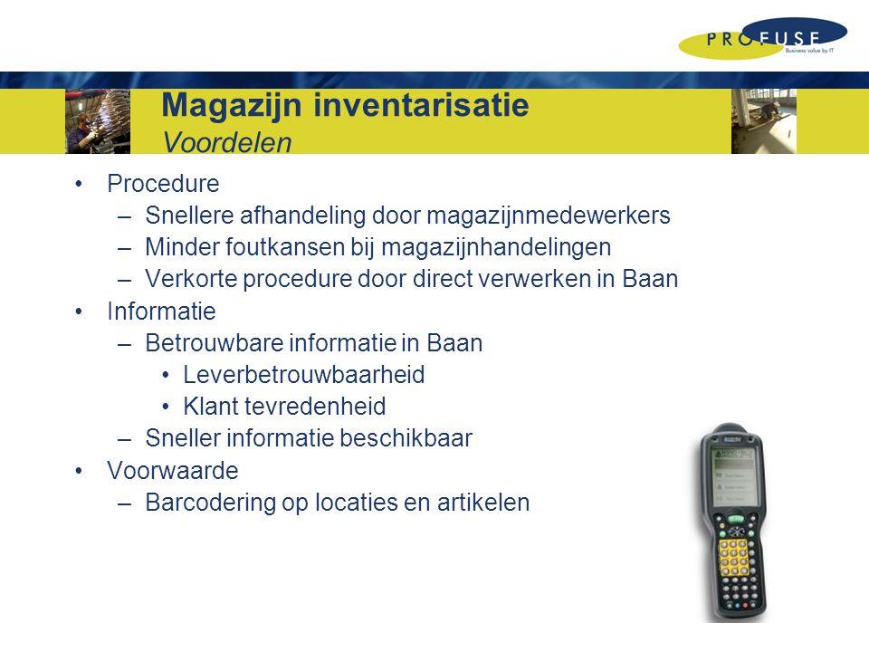 Magazijn inventarisatie Voordelen