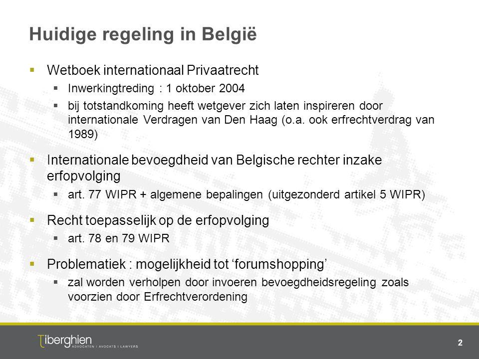 Huidige regeling in België