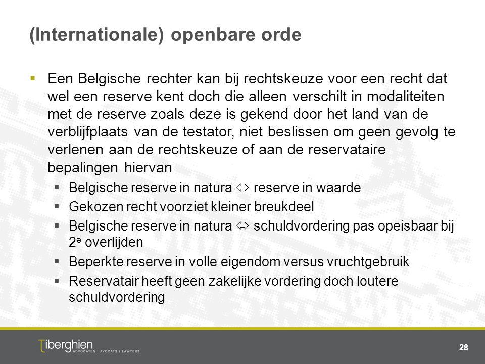 (Internationale) openbare orde