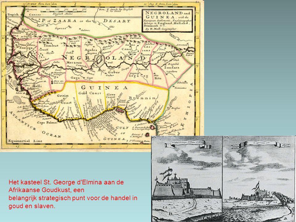 Het kasteel St. George d Elmina aan de Afrikaanse Goudkust, een