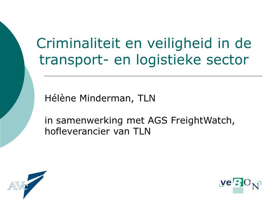 Criminaliteit en veiligheid in de transport- en logistieke sector