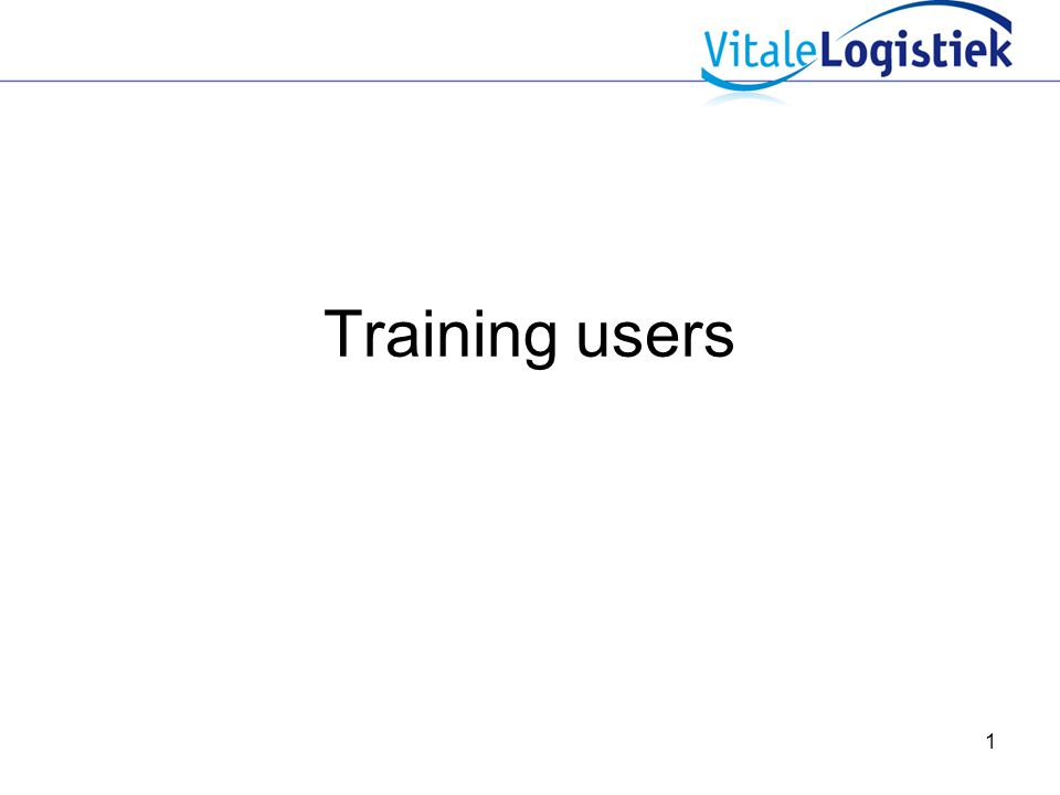 Training users