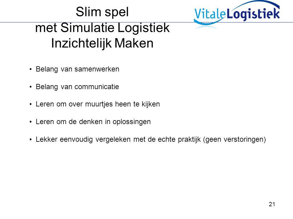 Slim spel met Simulatie Logistiek Inzichtelijk Maken