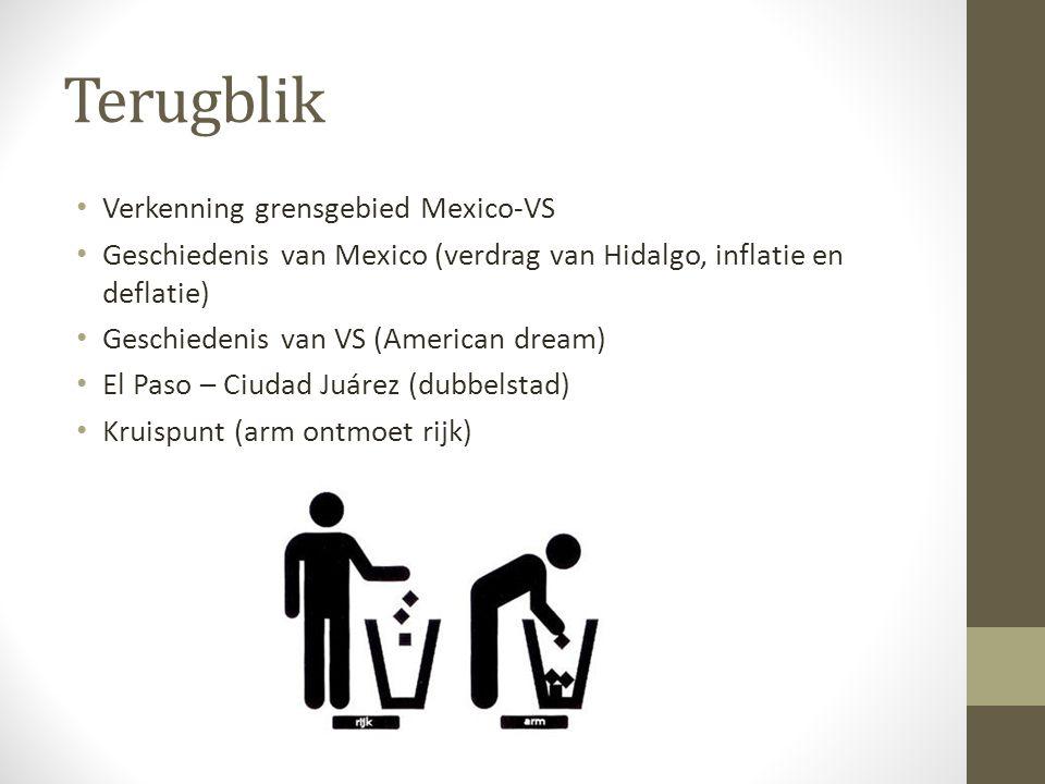 Terugblik Verkenning grensgebied Mexico-VS